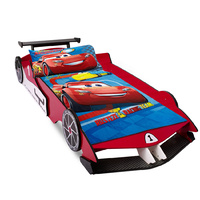 Kids Single Size Wooden Racing Car Bed Frame Red