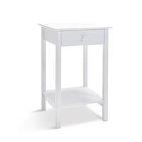 Franco Bedside Table White