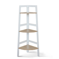 Hawaii 3 Tier Display Ladder Corner Shelf Rack White