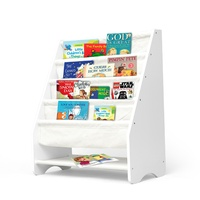 Kids Canvas Display Bookshelf Ivory