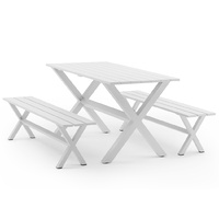 Manly 4 Seater Outdoor Dining Bench & Table Set