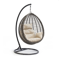 Swing Chair Outdoor Dark Brown