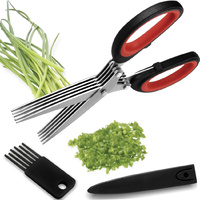 Florina 5 Blade Herb Scissors Set Stainless Steel  21cm