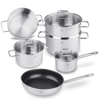 Ahlen 8pcs Stainless Steel Cookware Set