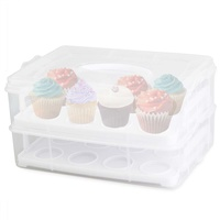 D.LINE Bake 24 Cup Stackable Cupcake Carrier