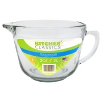 Kitchen Classics 2 Liter Glass Batter Bowl
