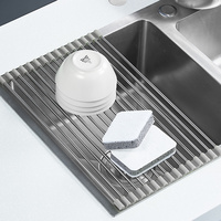Over Sink Roll-Up Draining Board Rack