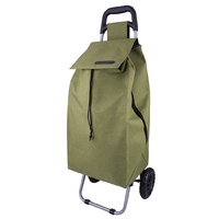 D.LINE Shopping Trolley  Rolling Wheel Fold Collapsible Cart Bag