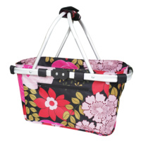 Sachi Carry Basket 2 Handle Floral Blooms