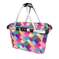 Sachi Carry Basket 2 Handle Harlequin