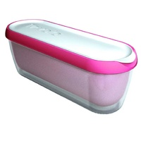 Tovolo Glide-A-Scoop Ice Cream Tub 1.4L Strawerry Sorbet Pink