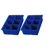 Tovolo Set of 2 King Cube Ice Tray Blue