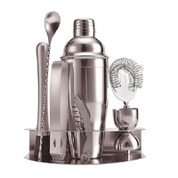 8 Pce Stainless Steel Cocktail Set W/Stand