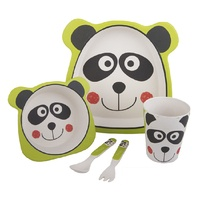 Bambeco Bamboo 5 Pce Kid's Meal Set Panda