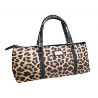 Sachi Insulated Wine Purse Leopard Natural