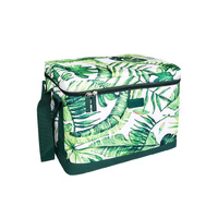 Sachi Cooler Cube Insulated Cooler  Jungle Leaf