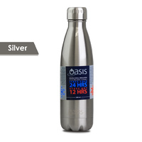 Oasis 750ml Stainless Steel Double Wall Insulated Drink Bottle Silver