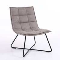 Fabric Dinning Lounge Cafe Chair Grey