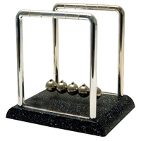 Newton's Cradle with Marble Look Base