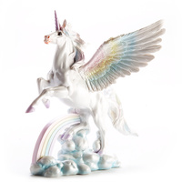 Rainbow Flying Unicorn Figurine Large