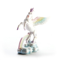 Rainbow Mystical Flying Unicorn Figurine
