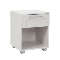 Bedside Table White Cabinet -1 Drawers
