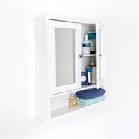 Maine Double Door Mirrored Bathroom Cabinet