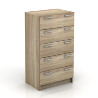 5 Drawers Tallboy Oak Look Chest