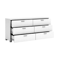 6 Chest of Drawers Table Cabinet - High Gloss