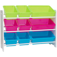 Mia Kids Storage Unit wiht 9 Bins