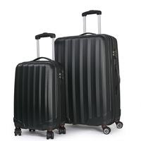 Conwwod SureLite 2pc Luggage Suitcase - Hard Case Black